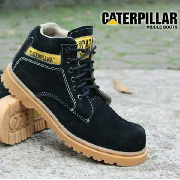 Sepatu pria caterpillar safety shoes caterpilar midle boot sepatu caterpillar sepatu boot caterpillar boot midle hitam