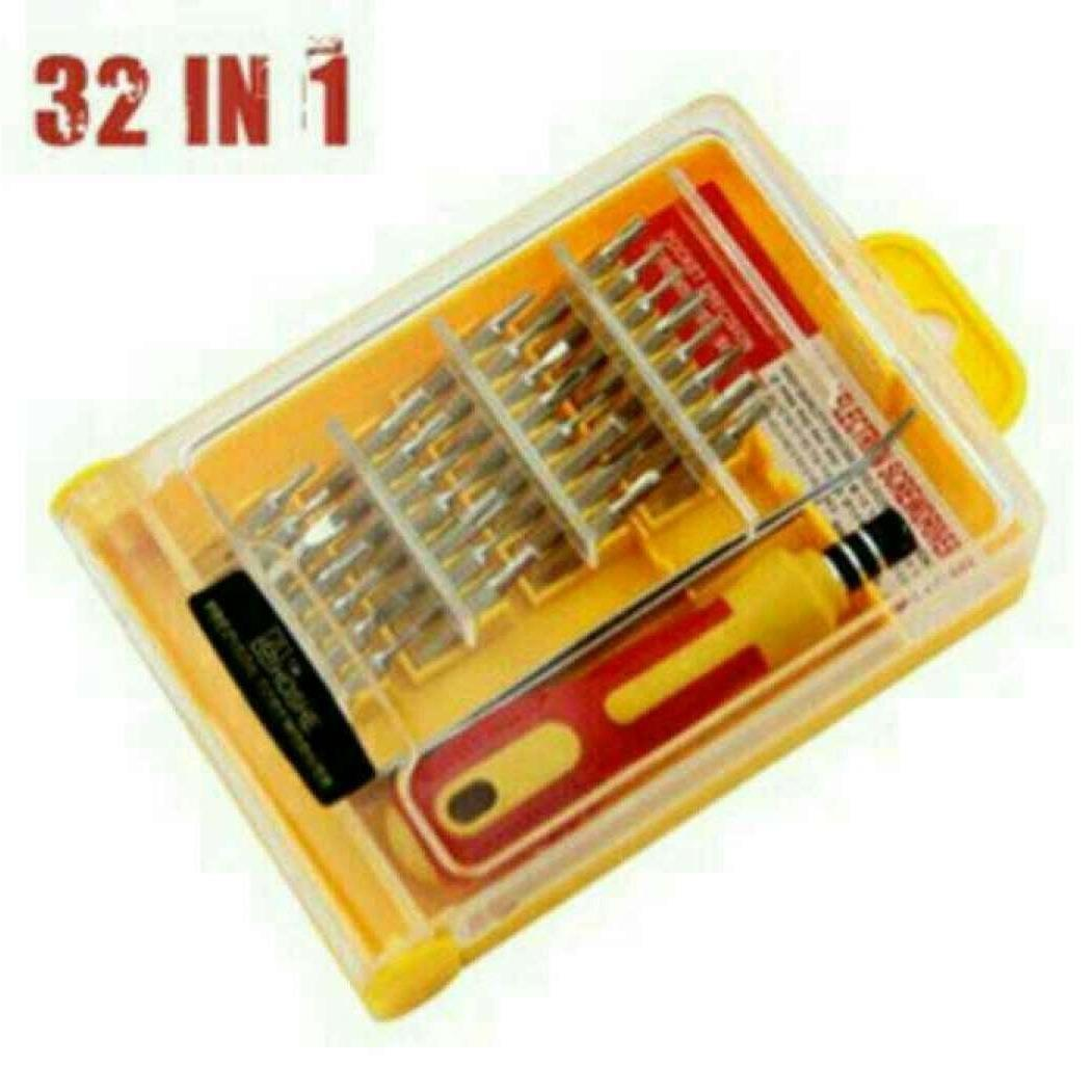Obeng Set Multi 31 In 1 Screwdriver Handphone Elektronik HP Laptop PC SAmsung Iphone Repair Reparasi Service 32 In 1 Set Pertukangan 31in1 Home Stuff
