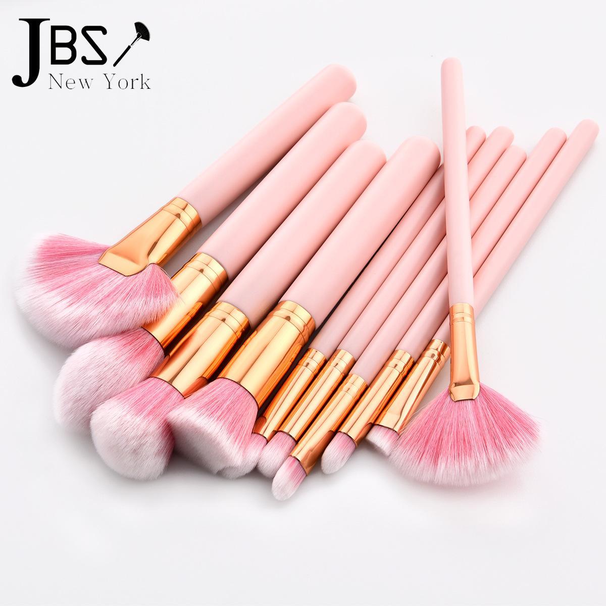 Kelebihan Jbs New York Makeup Brush 10pcs Tools Set Fan Kuas Mermaid K 037 038 058