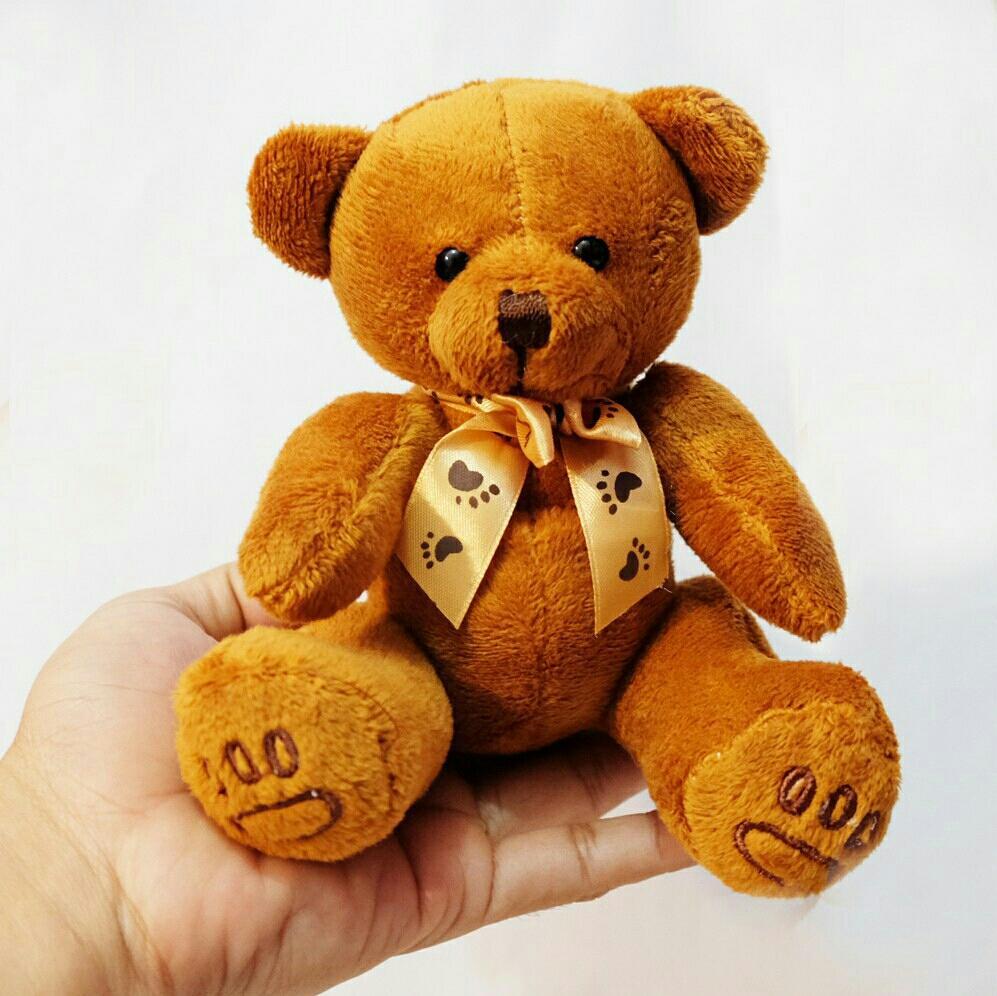 Boneka teddy bear tapak bordir 15cm bear souvenir