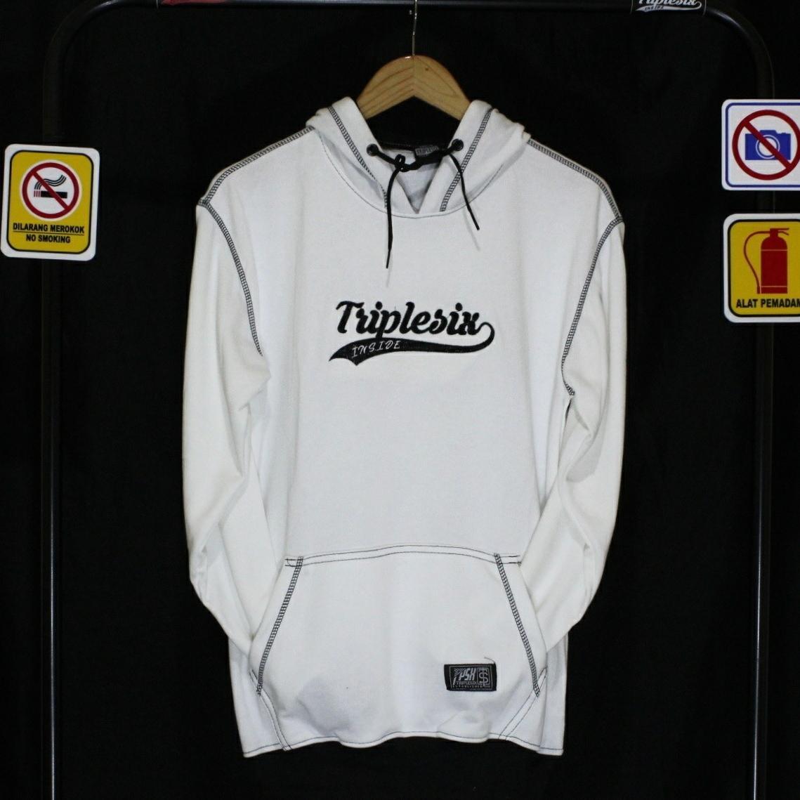 Fitur Jaket Kaos Sweater Lengan Pendek Hoodie Original Distro Jumper Cotton Ml Pria Wanita Bandung Triplesix Bahan Fleece Premium Size M L