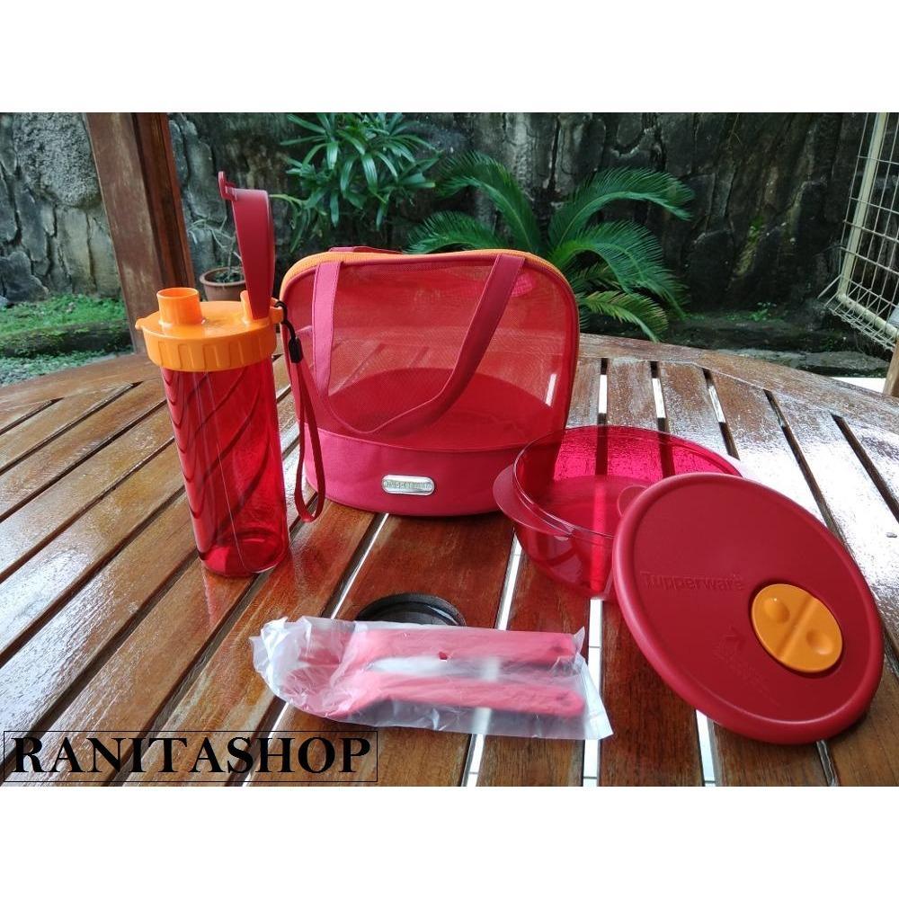 Cek Harga Baru Tupperware Pretty Glam Set Lunh Box Merah Terkini Cherry Blossom Gambar Produk Rinci