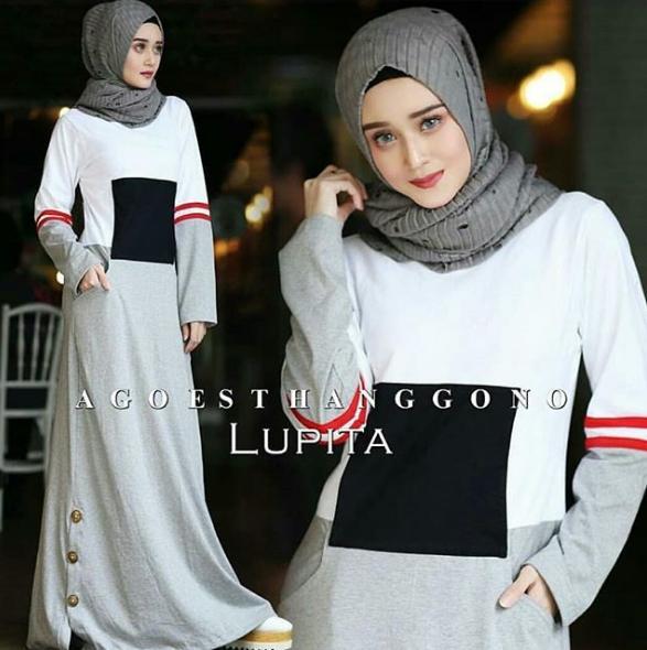 Features Five Dress Bahan Cotton Combat Gamis Kaos Combat Gamis