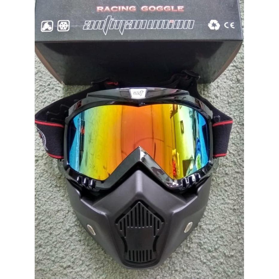 Goggle Mask Kaca Mata Cross Ant Man Pelangi WMP-0940