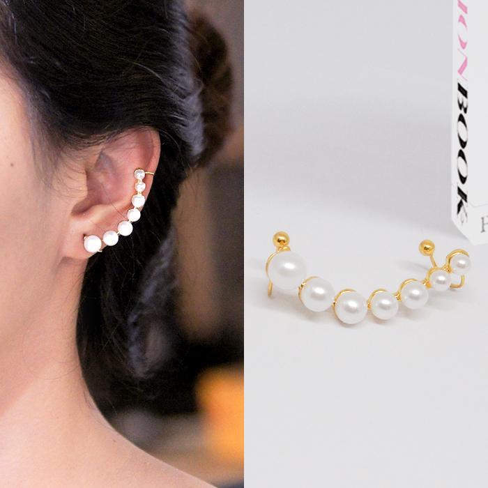 Anting Korea Multi Pearl Ear Clip No Needle Harga 1pcs J4U551