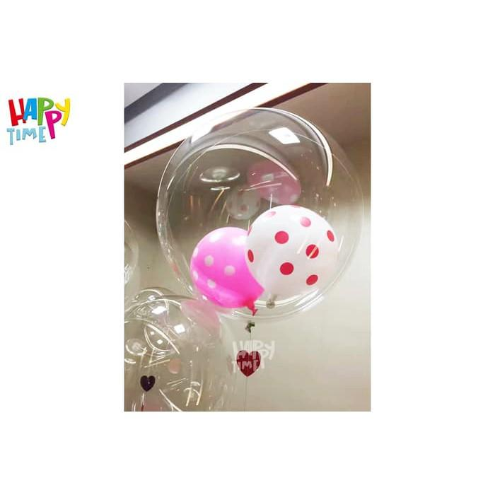 BOBO BALON ISI 1 PC BALON TRANSPARAN BALON LED BALON LAMPU TUMBLR BALON MURAH - 2 ...