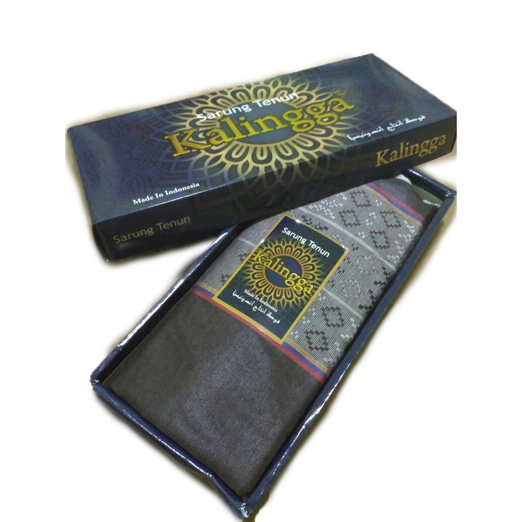 srj – sarung muslim tenun  warna coklat / sarung islami  / busana muslim pria / bawahan muslim pria / sarung shalat tenun / sarung tenun pria
