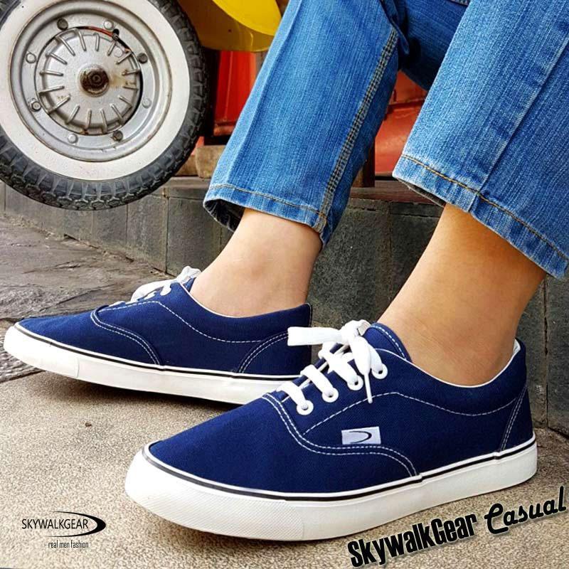 Toko Skywalkgear Fun Men Sepatu Sneakers Pria A178 D Blue Termurah North Sumatra