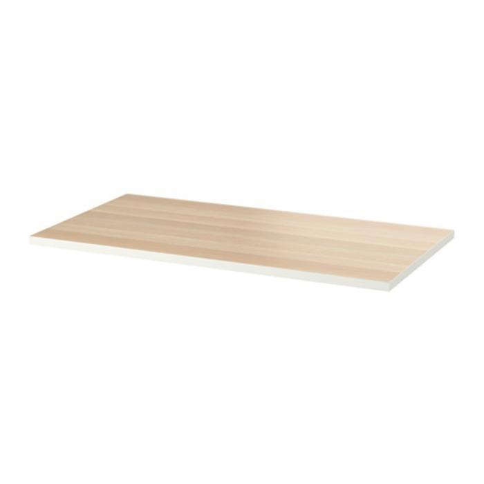IKEA LINNMON Daun meja, putih, efek kayu oak diwarnai putih 150x75 cm