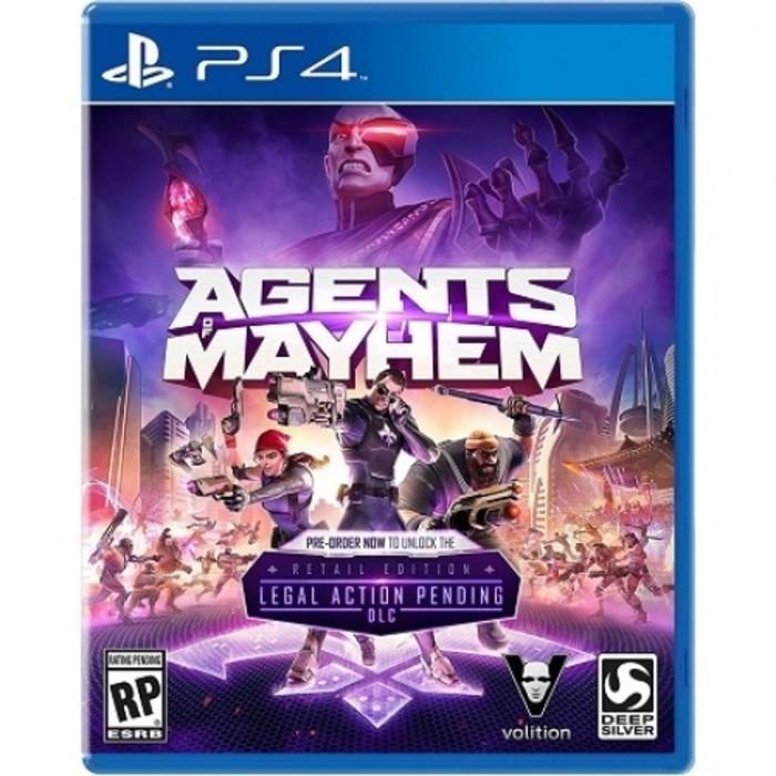 Promo KASET ORIGINAL GAME DISC SONY PLAYSTATION PS4 AGENTS OF MAYHEM REG 3 Limited