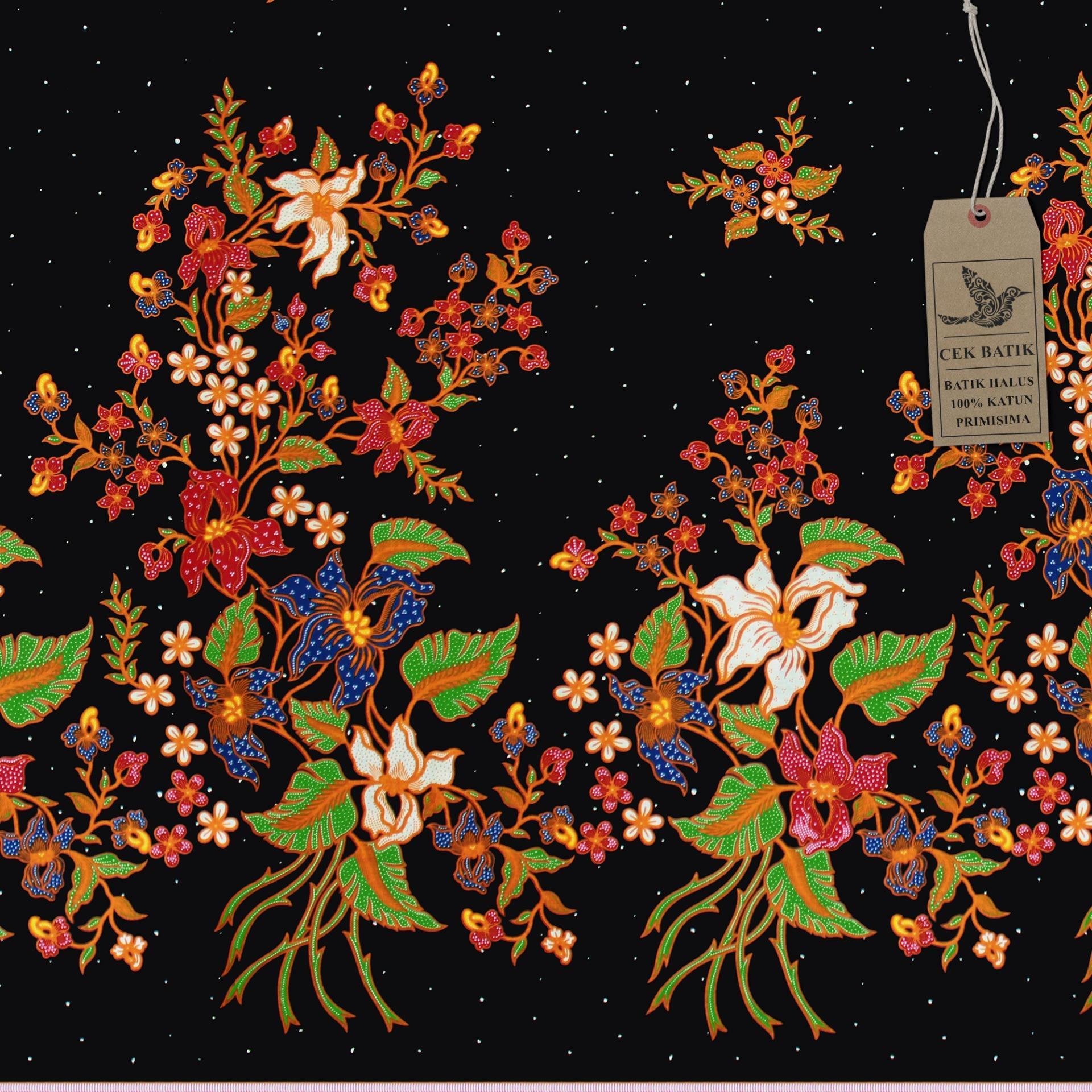 Cek Batik - Kain Motif Pesona Batik Bunga Manis