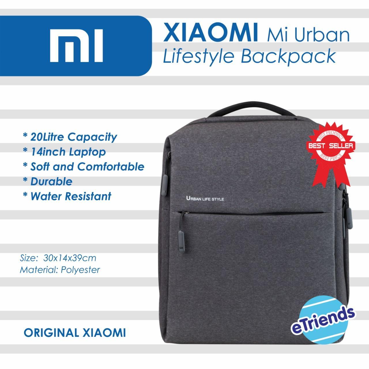 Xiaomi Bag Original Urban Lifestlye Backpack Tas Xiaomi Laptop Ransel - Hitam