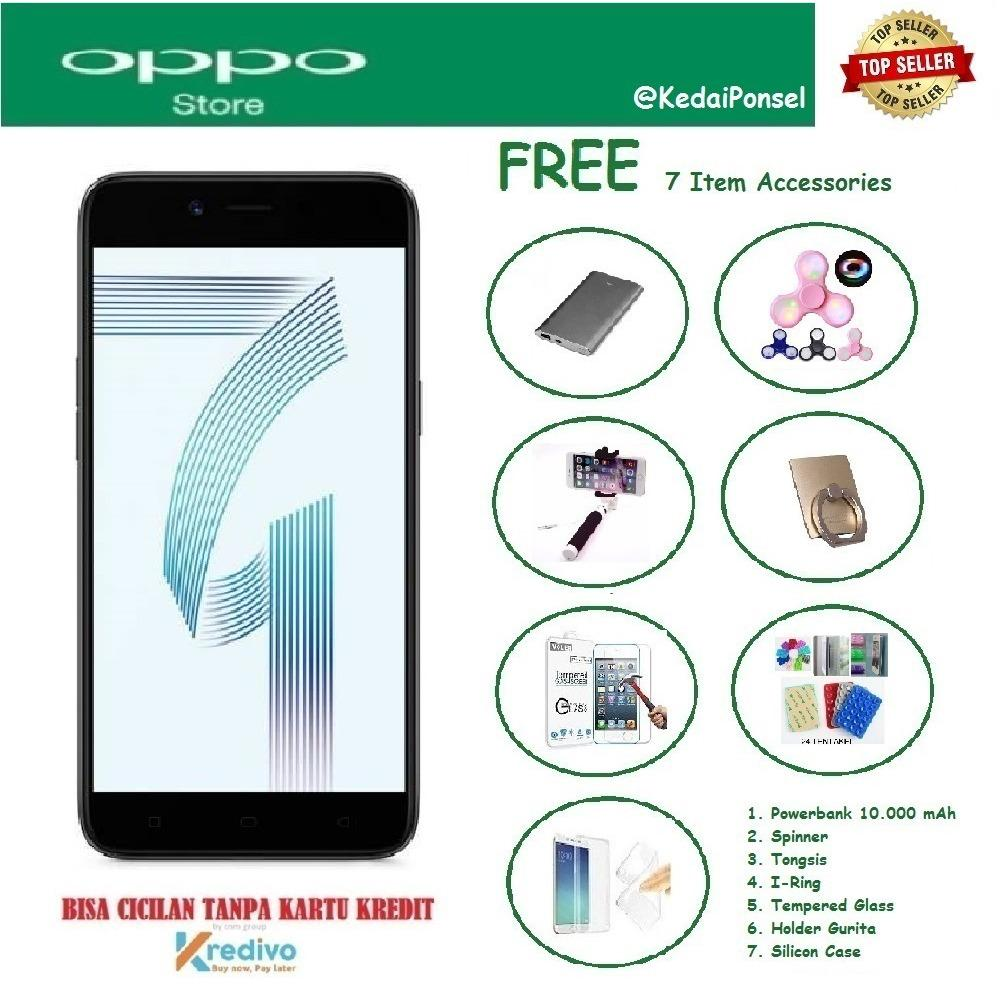 OPPO A71 (2018) [3/32GB] + Free 7 Item Accessories
