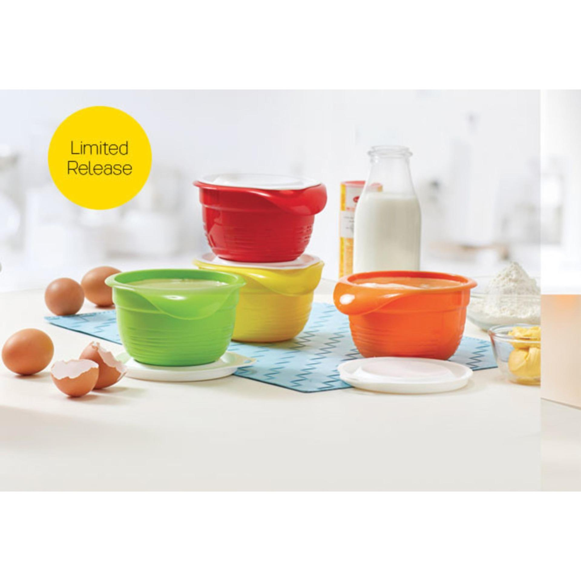 Fitur Set Of 4 Reusable Silicone Bowl Covers And Food Stretch Lids Consina 200ml Tupperware Versa