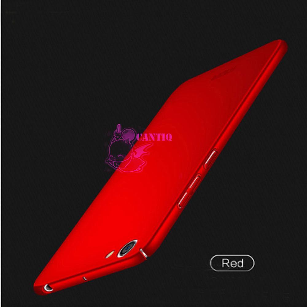 QCF Case Vivo V5 Lite Hard Slim Red Mate Anti Fingerprint Hybrid Case Baby Skin Vivo