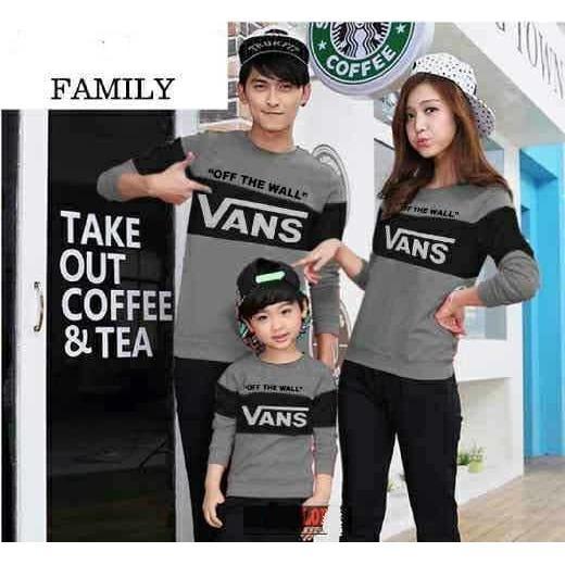 Kaos Original Family Vans-Kaos Couple Keluarga 3 Pasang