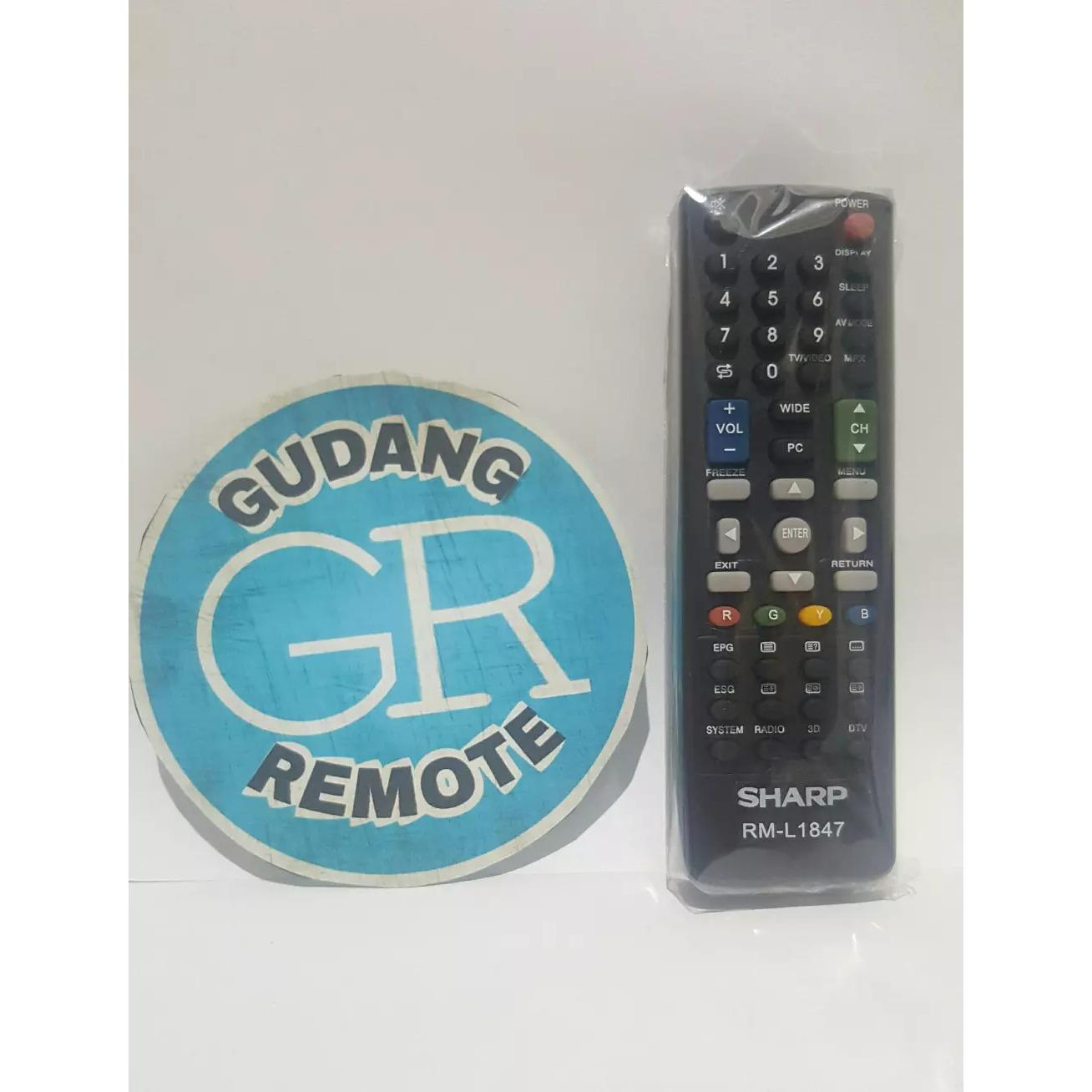 TERLARIS Remote TV Sharp LED/LCD Pendek TOKO RISBAS