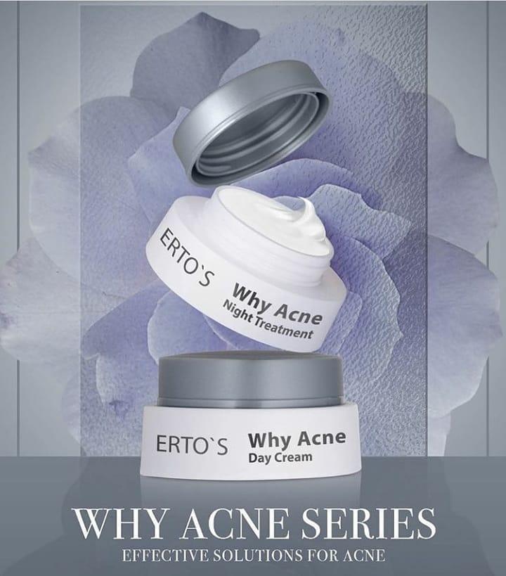 Ertos / Erto's Why Acne Night Cream / BPOM Original 100% / 50gr