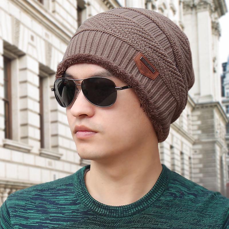Topi Pria musim dingin hari Gaya Korea pasang Topi Beanie Topi Rajutan Topi  Pelindung Telinga topi 97a46b9961