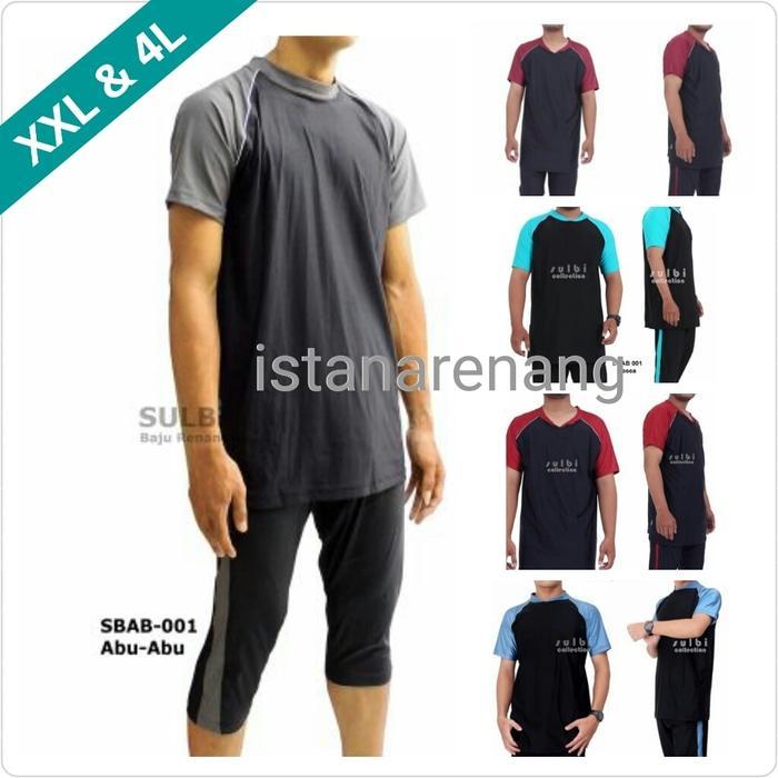Baju Renang Pria JUMBO XXL dan 4L Big Size Besar Dewasa SBAB 001