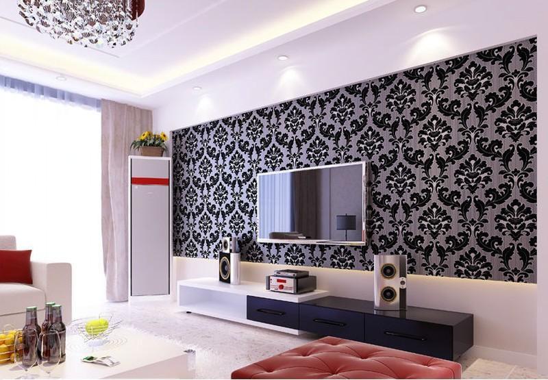 Detail Gambar New Walpaper Dinding Elegant Size 45cmX10m-HKN Terbaru