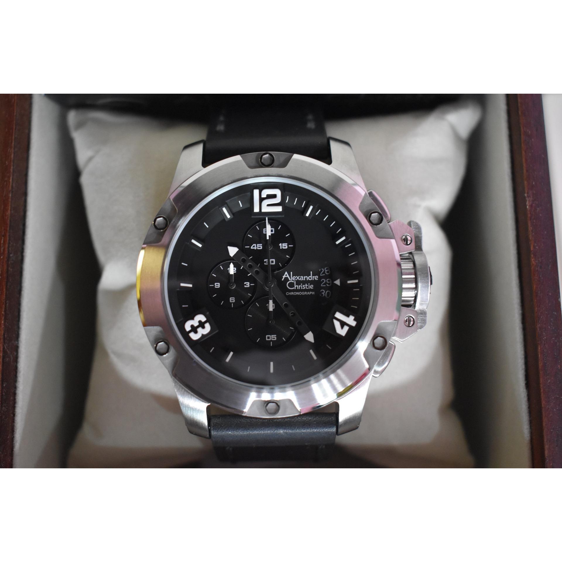 Cek Harga Baru Jam Tangan Pria Alexandre Christie Ac 6141 Mc Black Rose Gold 6295 Ac6295 Silver Leather