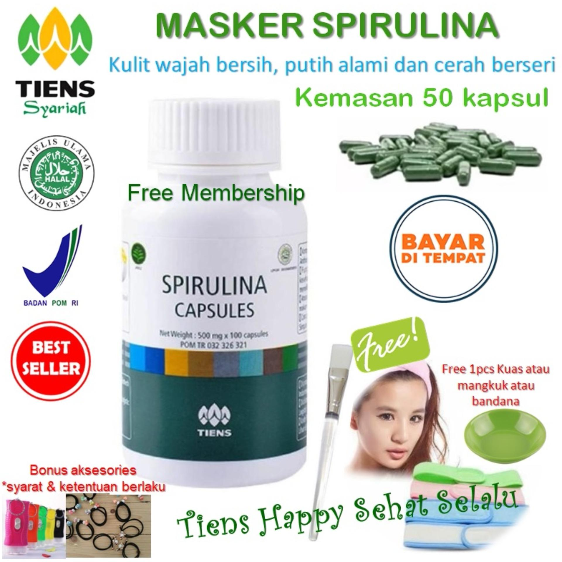 Top 10 Masker Tiens Spirulina Herbal Pemutih Wajah Isi 50 Kapsul Promo Online