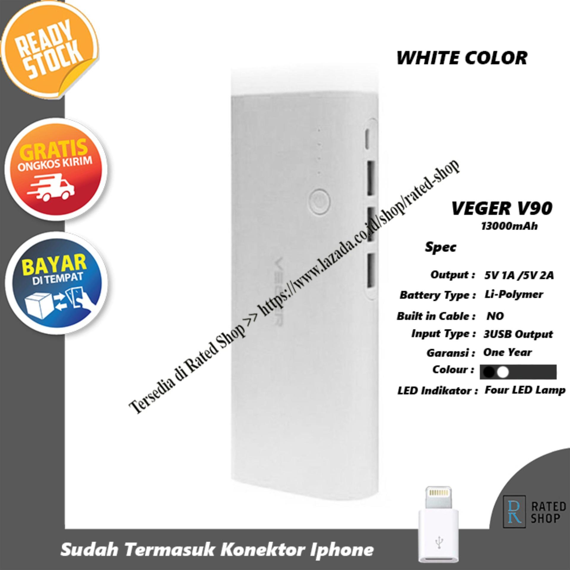 Kelebihan Veger V50 Power Bank 12000mah Putih Terkini Daftar Harga Powerbank Hippo Atlas Simple Pack Polymer Cell V90 13000mah 3 Output
