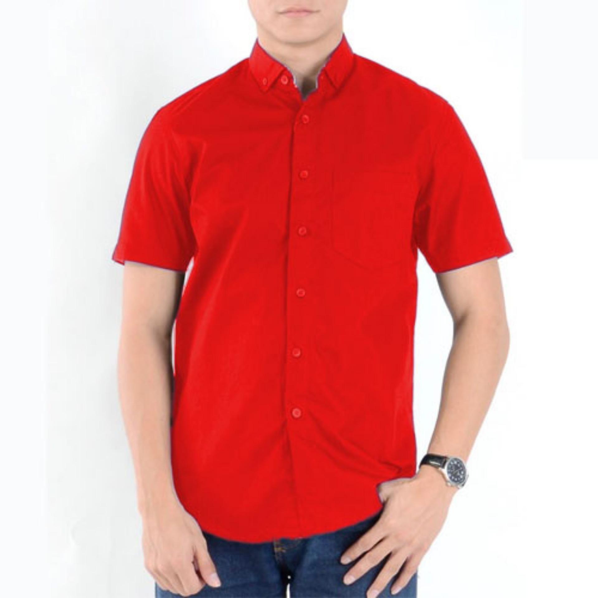 Harga Kemeja Formal Merah Pendek Merah Di Dki Jakarta