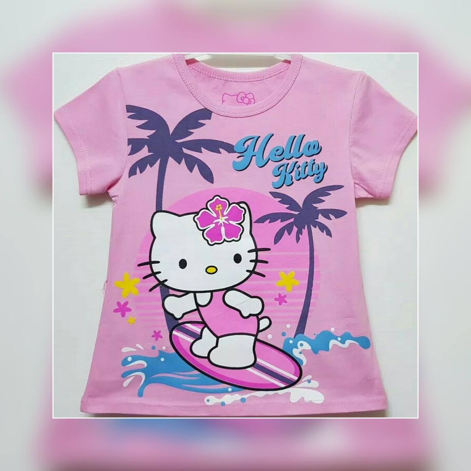 Kelebihan Kaos Anak Hello Kitty Baju Perempuan Terkini Daftar Dress Motif Cat Atasan Pink