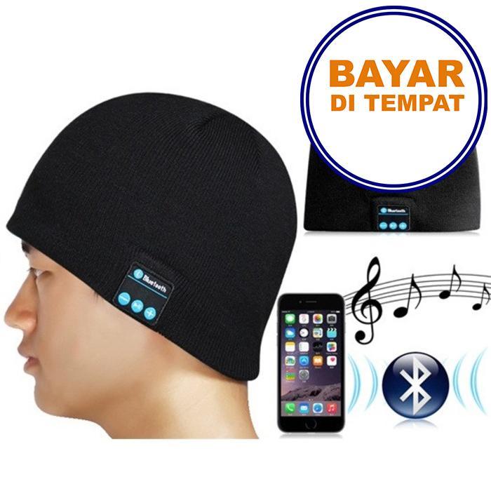 PROMO SAAT INI Topi Kupluk Beanie Multifungsi HandsFree Earphone Cover Helm Bluetooth