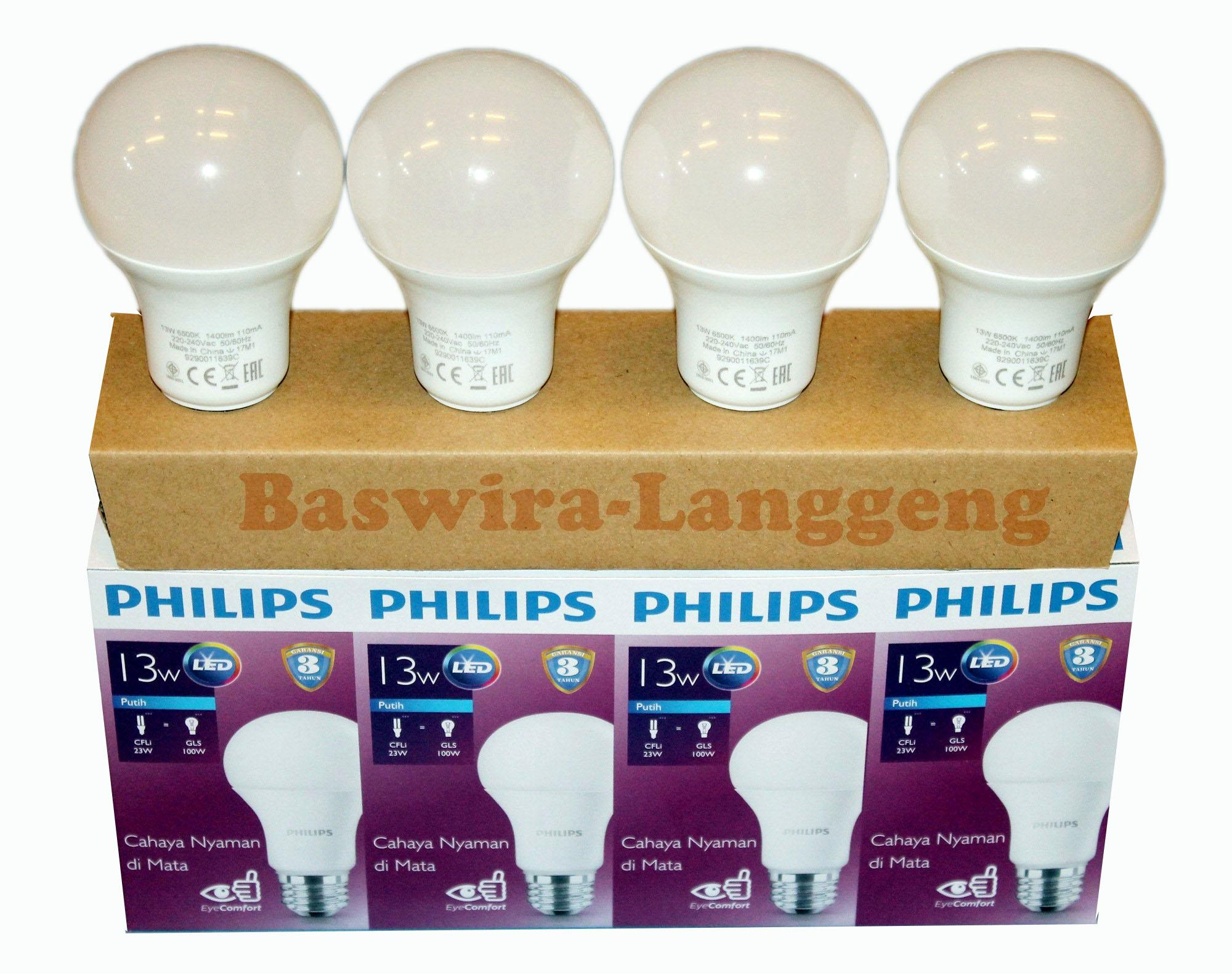 Cek Harga Baru Philips Lampu Led Bulb 13 Watt Unicef Beli 3 Gratis 1 Bohlam 13w Philip W 13watt Paket  Gambar Produk Rinci Putih Terkini