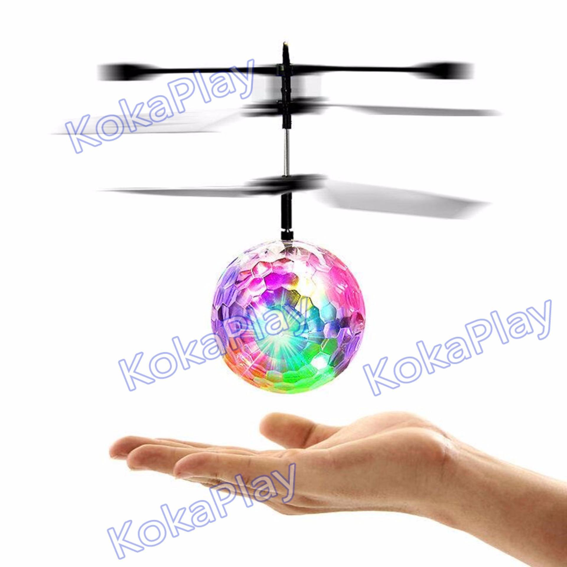 Mainan Mini Flyer Flash Ball Orb Hand Remote Control RC Helicopter Quadcopter Drone Mainan Bola Lampu