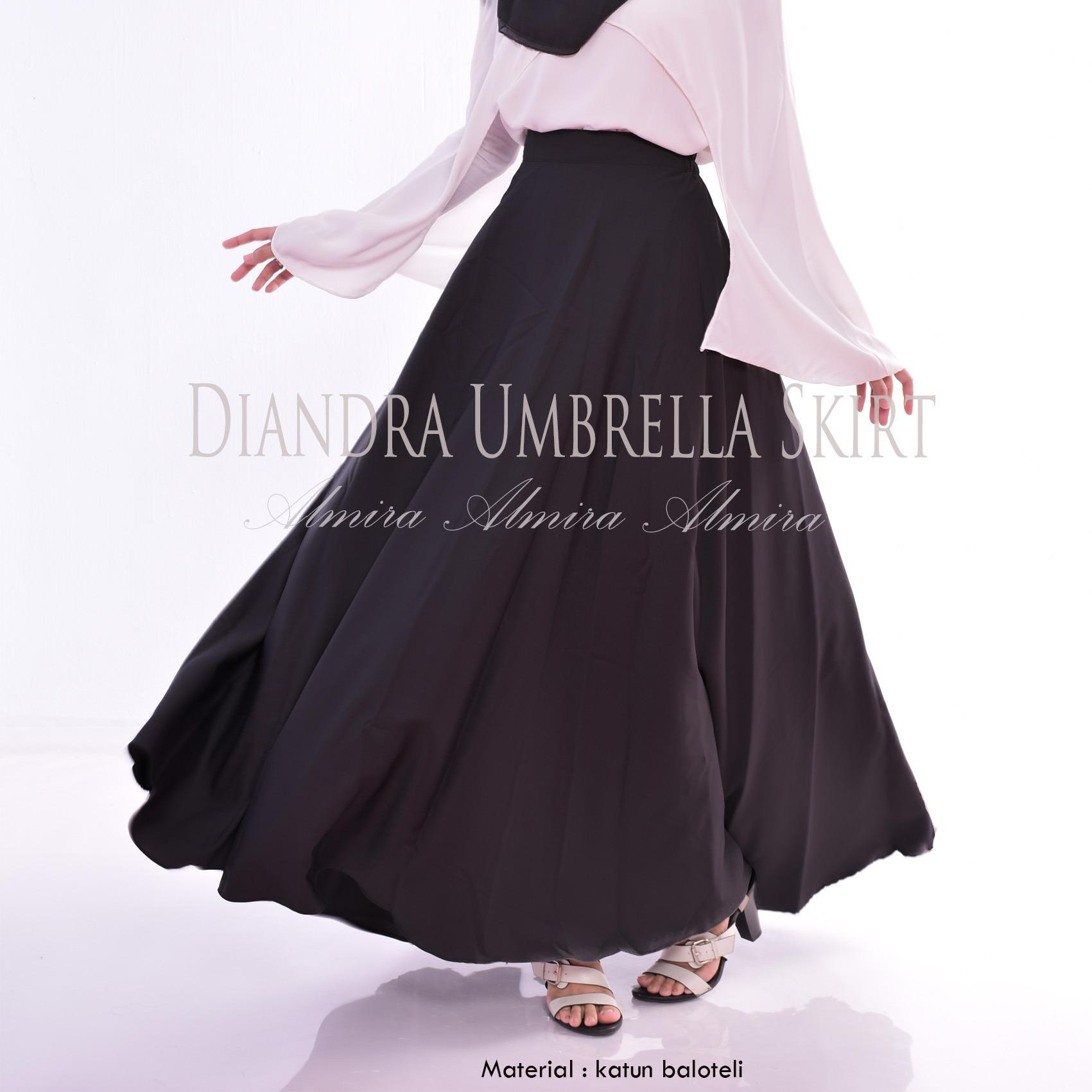 Almira Rok Panjang Wanita Diandra Hitam Promo Beli 1 Gratis 1