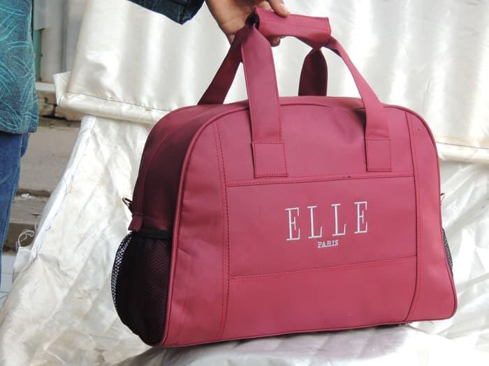 ... HARGA PROMO!!! tas wanita travel elle marun tas pakaian jinjing  slempang grosir murah ... fee33bfdbb