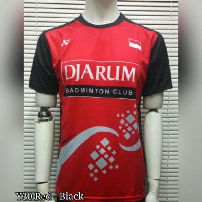 harga Baju Kaos Badminton / Bulutangkis Yonex Y30 Red Black Lazada.co.id
