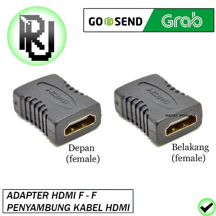 Detail Gambar Promo: Gender Hdmi Female To Female Konektor Penyambung Kabel Hdmi F To F - ready stock Terbaru
