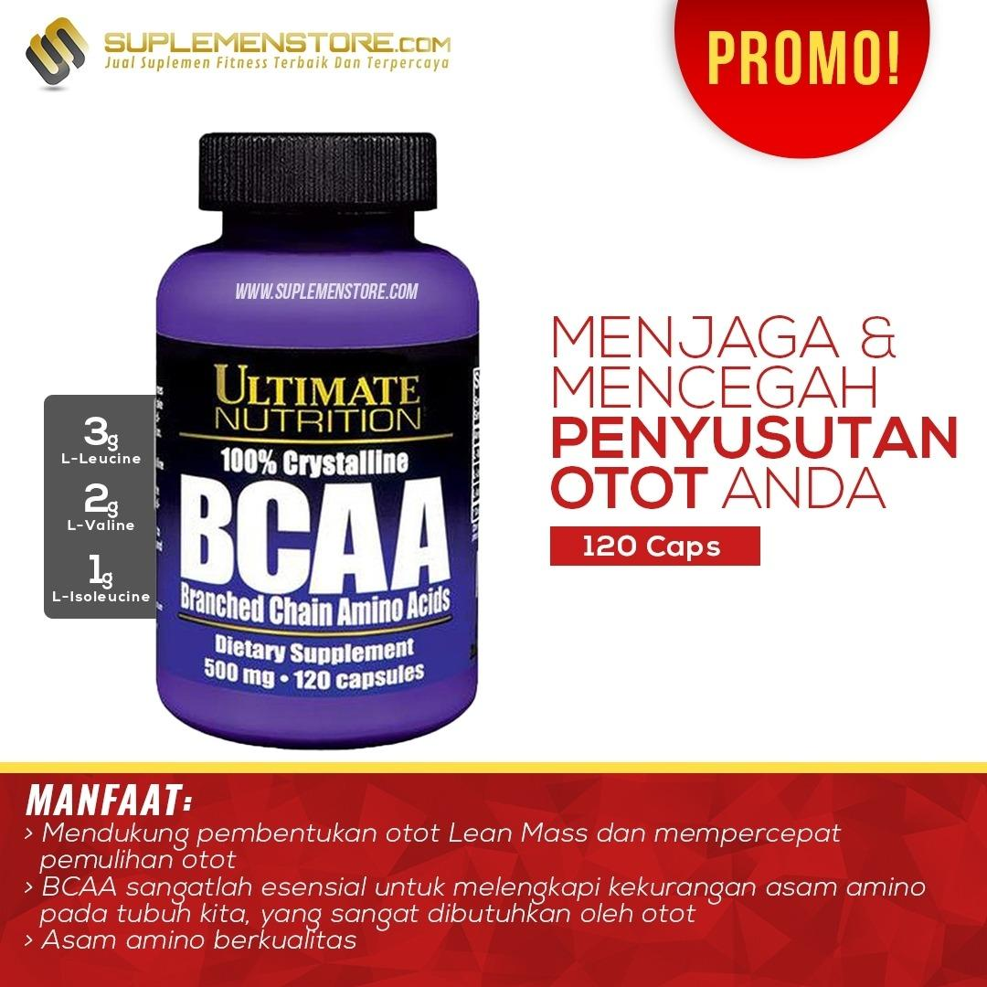 Spesifikasi Ultimate Nutrition Bcaa Capsules 500 Mg 120 Caps