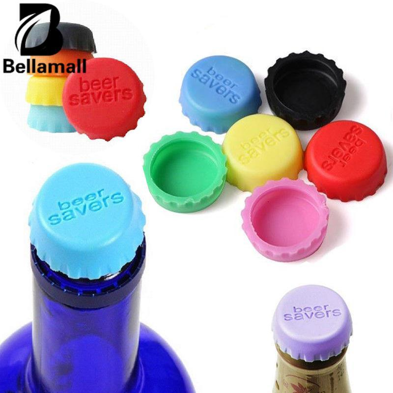 Bellamall: 6 Pcs/bag Silicone Botol Tutup Bir Soda Cola Lid Wine Saver Stopper