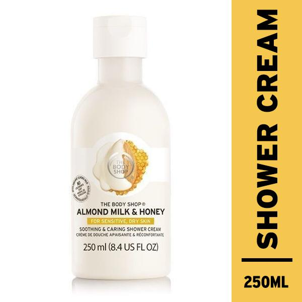 Harga The Body Shop Almond Milk Honey Soothing Caring Shower Cream 250Ml