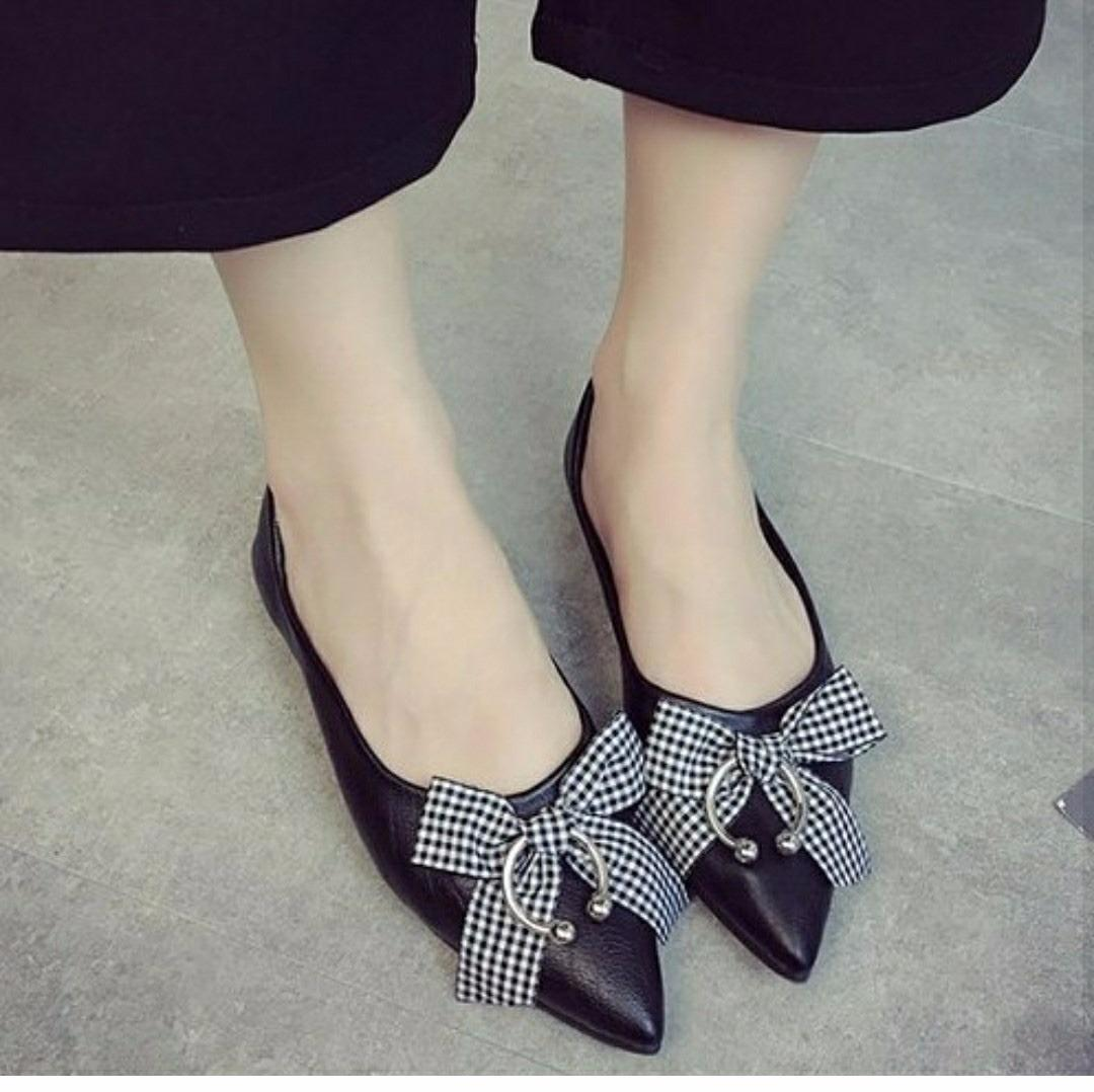 Rafishashoes-Sepatu Balet Ring-[Black]