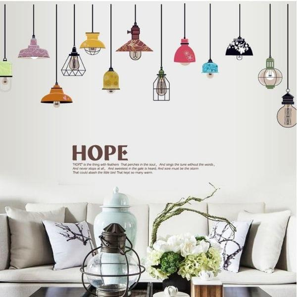 Classic Color Lamp SK9144 - Stiker Dinding / Wall Sticker