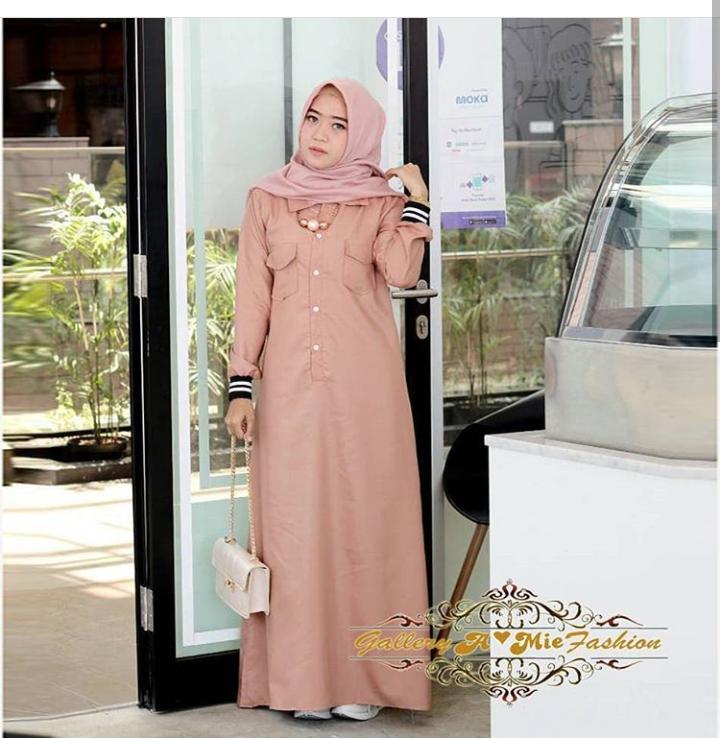 Baju Murah Terbaru Gamis Riby Dress Toyobo Gamis Baju Modis Trendy Gaun  Wanita Modern Baju Panjang f05d5fdc51