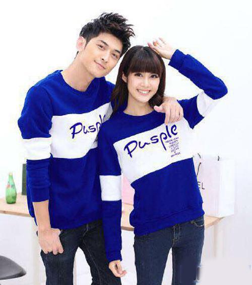 Baju Hoodie Couple Sweater Kaos Pasangan Kopel Kapel Kembar Murah Pusple