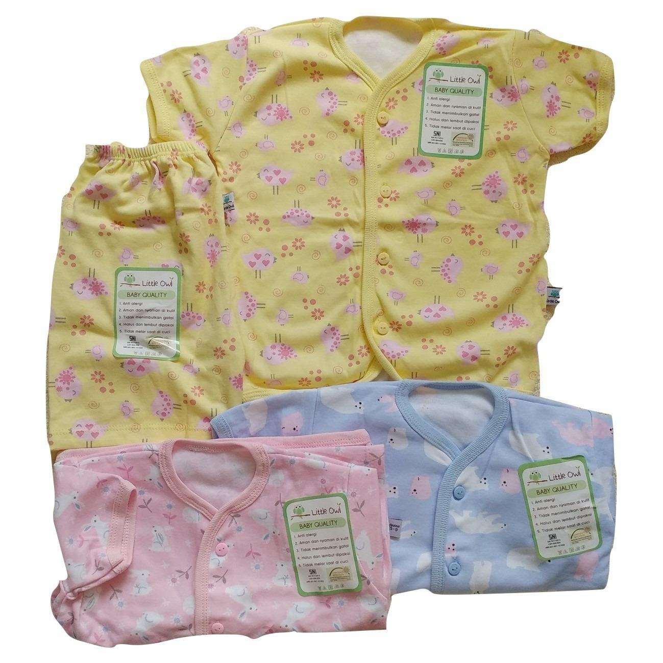 Spesifikasi Jelova Angela 3Sett Setelan Baju Baby Bayi Oblong Pendek Little Owl Recommended To 12 18 Months Sni Standart Girls With Pink Lengkap