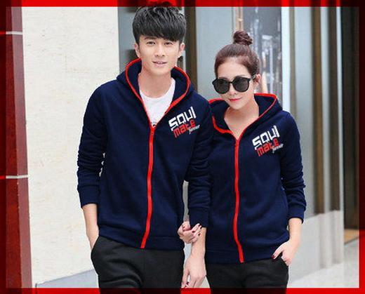 [Cp Jkt Soulmate Navy CL] couple jaket babyterry navy