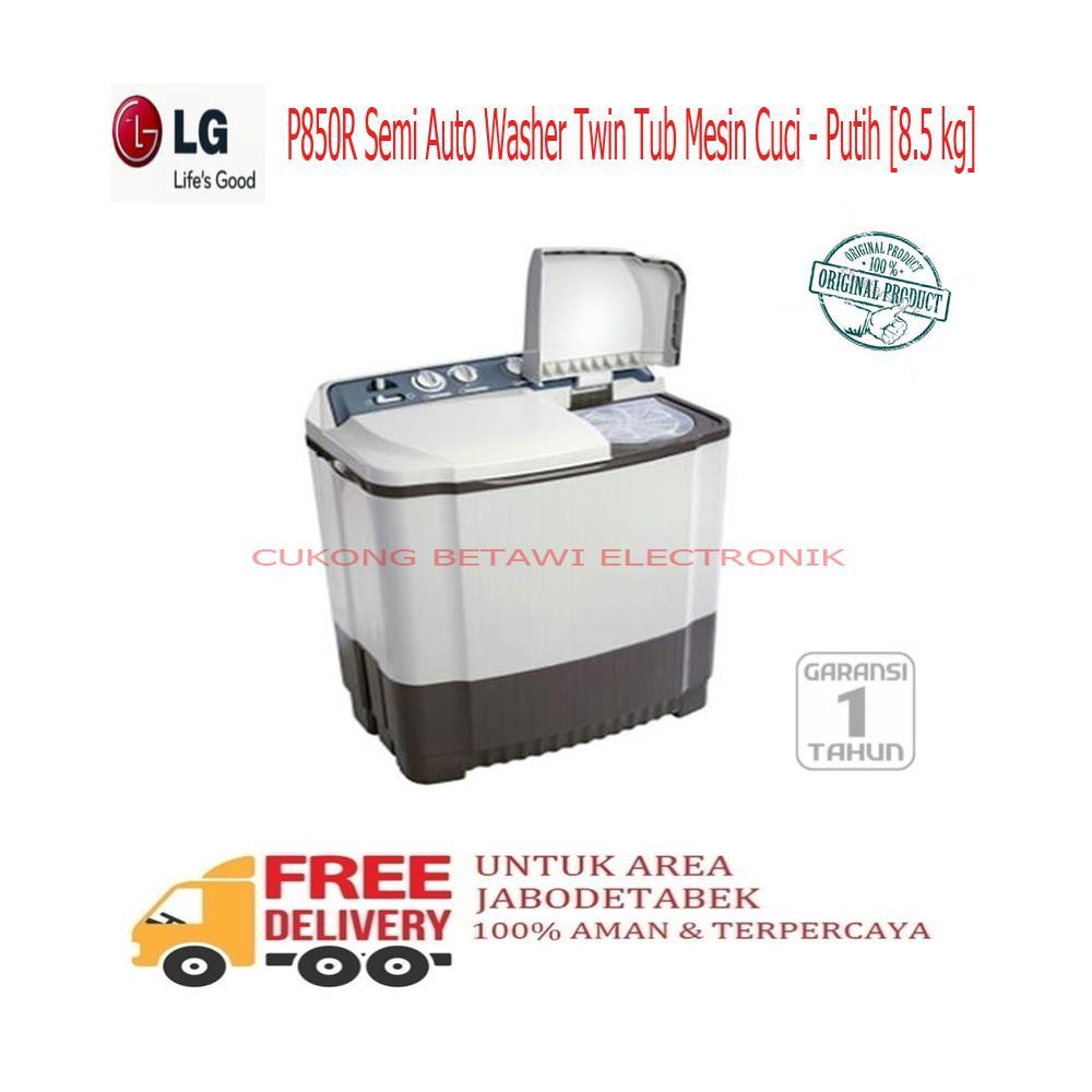 ... LG P850R Semi Auto Washer Twin Tub Mesin Cuci - Putih 8.5 Kg-KHUSUS JABODETABEK ...