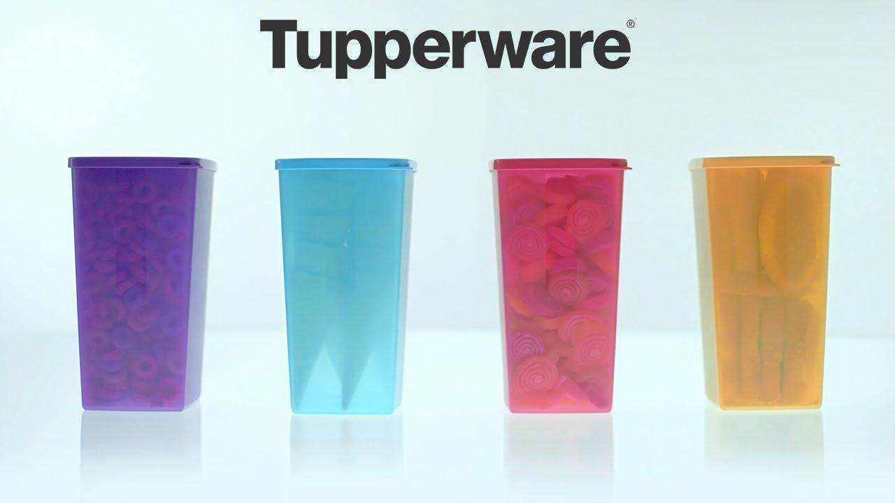 Tall Square Round Satuan Toples Plastik Tupperware