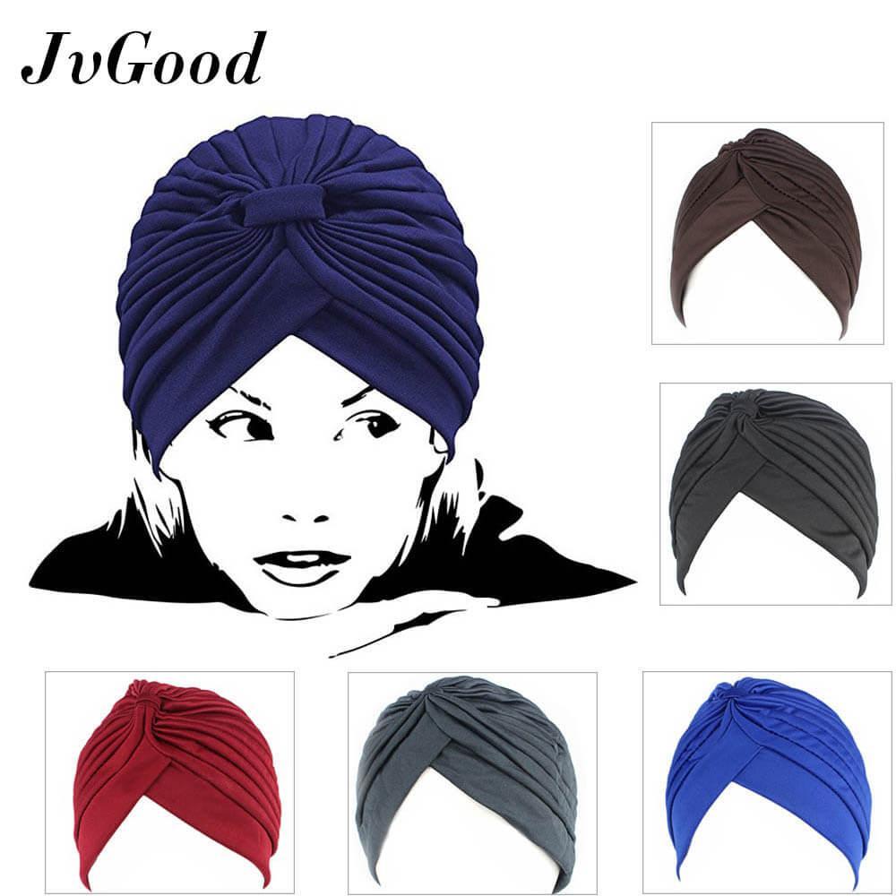 Cek Harga Baru Jvgood Ciput Inner Rajut Anti Pusing Womens 5 Pack Bandana Llinner Pleated Stretchable Head Wrap Knit Pre Tied