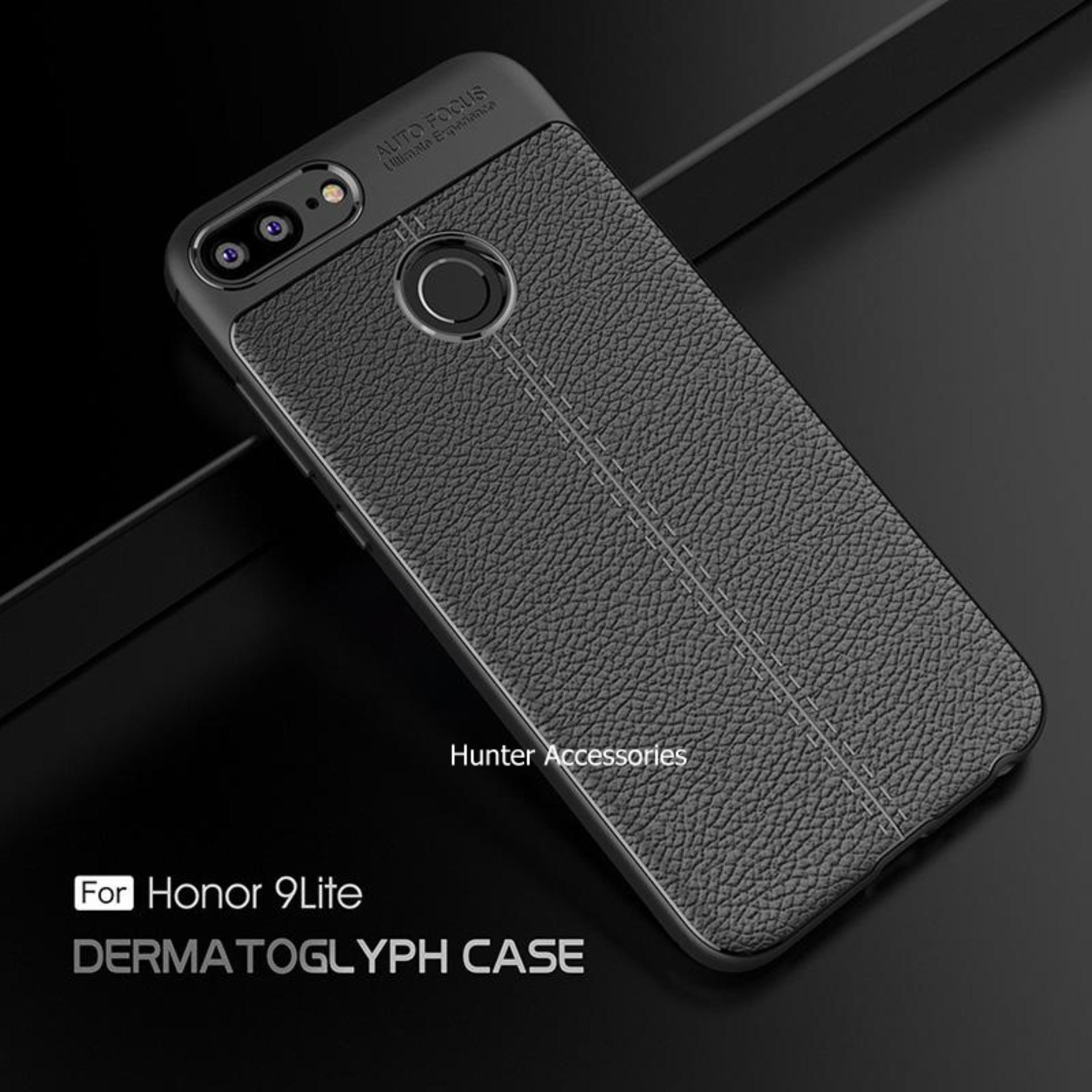 Ambigo Premium Case Huawei Honor 9 Lite Luxury Ultimate Autofocus TPU Leather - Black